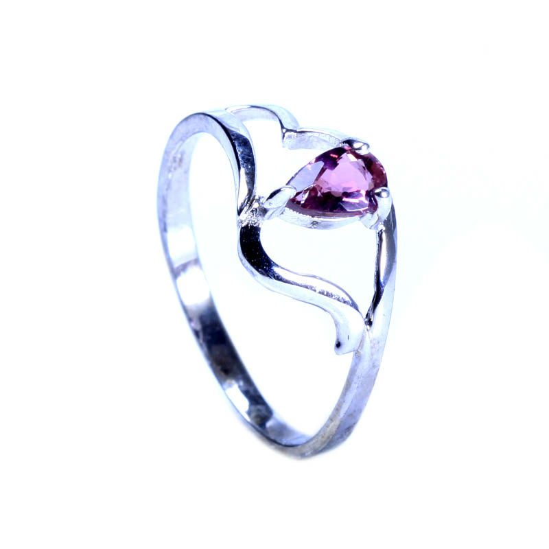2013 Hot Sale Fashion Vogue Jewelry 925 Sterling Silver Pink Tourmaline Ring