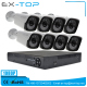 2.0MP AHD CCTV Camera System 8 Pieces Array Led IRCUT 1080P AHD Camera + Free APP 8CH Hybrid DVR AHD