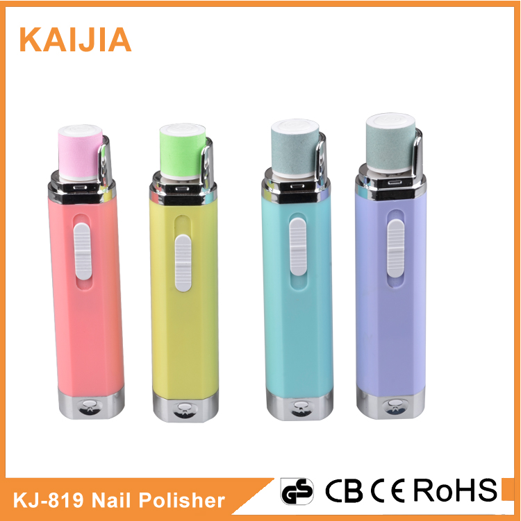 Battery operated electric nail care for nail polishing