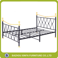 Fashion Black Double Bed Bed Room