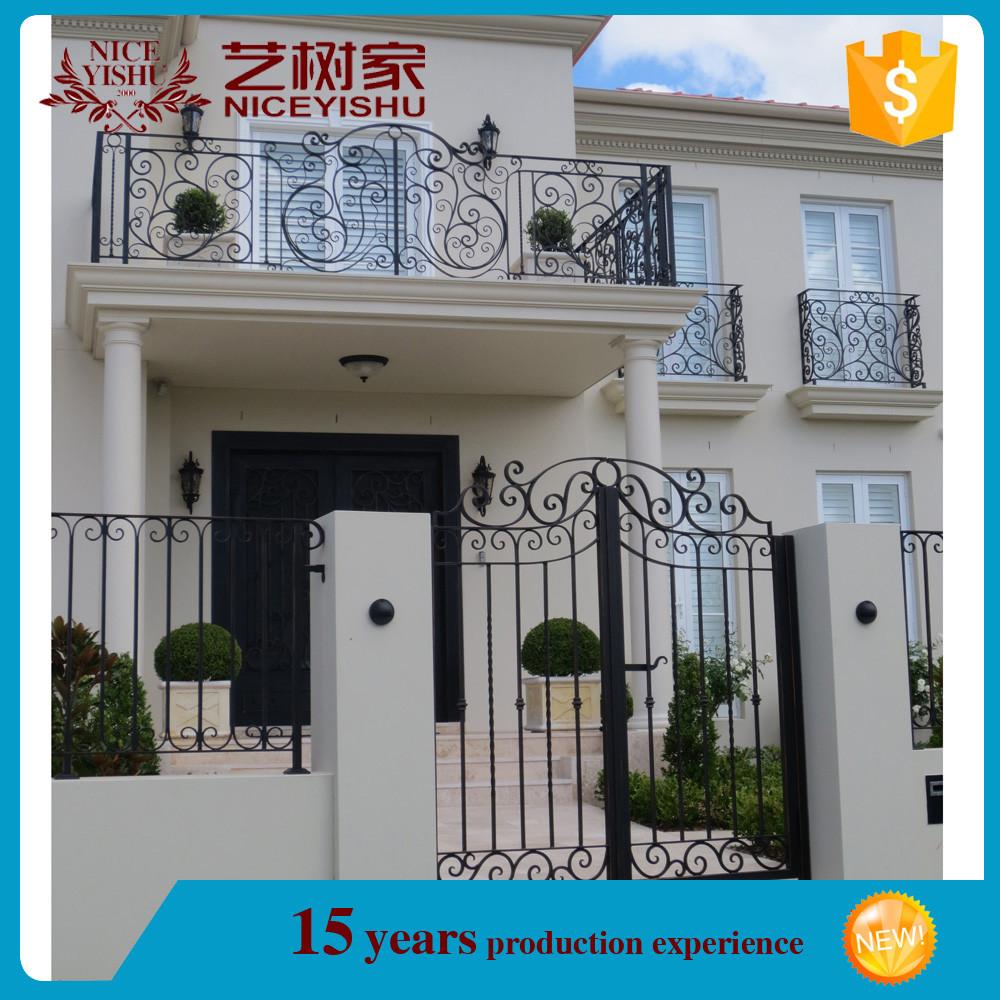 Utilizzato in ferro battuto ringhiera del balcone in vendita/iron ...