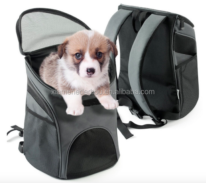 Becko Dogs Cats Rabbits Mesh Pup Pack Soft-sided Outdoor Travel Backpack Pet Carrier