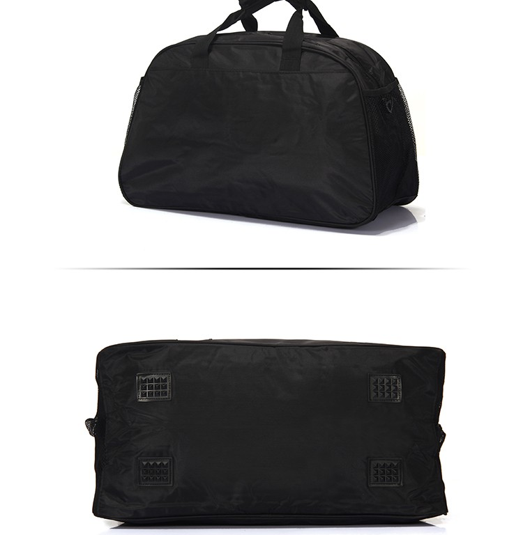 Custom lightweight durable sports bags black duffle bag athletic sports gym bag for men & women
