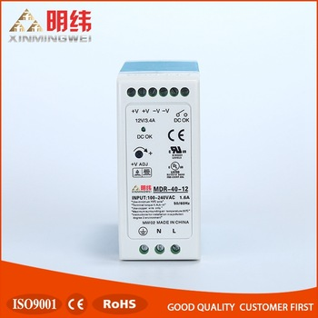 MDR-40-12 Din Rail output led driver switching module power supply, 220vac to 24vdc power supply