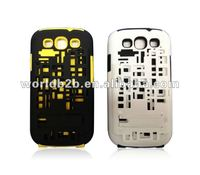 2 in 1 3D Space Meshmesh Rubber Hard Stand case + Silicone Case cover For Samsung Galaxy S3 i9300 ,