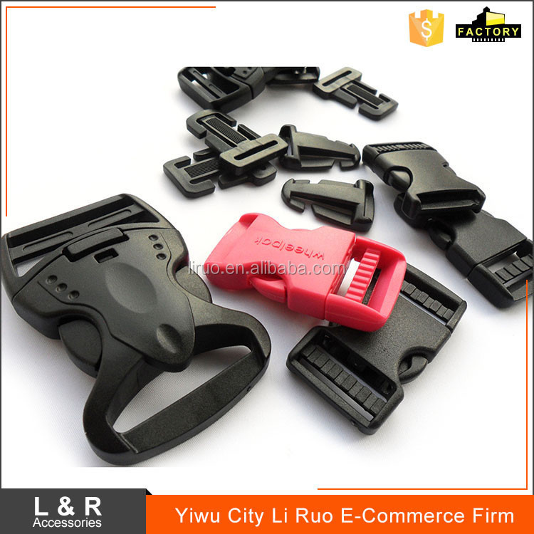 Promotional side release colored plastic bag buckles