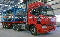 ISO tank container 2/3 Axle plastic- lined steel chemical liquid tank semi trailer,semi-trailer for HCL, NaOH ,NaCIO H2SO