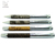 Customized color PU leather grip ball pen gift embossed logo leather ballpoint pens