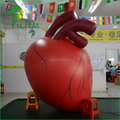 Large Heart Shaped Balloons / Floating Giant Helium Red Inflatable Heart for Advertising Display