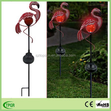 Garden ornaments type and metal material pink flamingo
