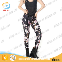 2016 Flower Print Fitness Sexy Women Leggings Custom Sports Pants