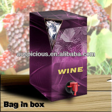Red wine bag in box