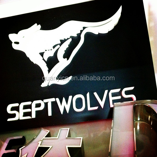 advertising laser cutting galvanized steel acrylic craft sign