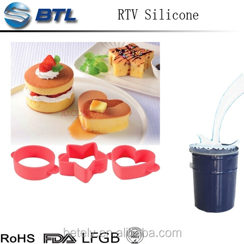 Factory wholesale price RTV2 liquid silicone rubber for cake mold making with high quality