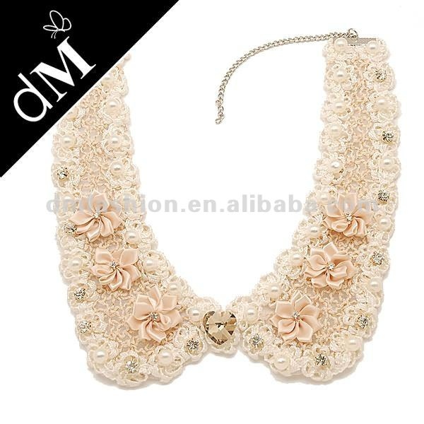 Detachable jewelry fashion beaded collar with imitation Pearls