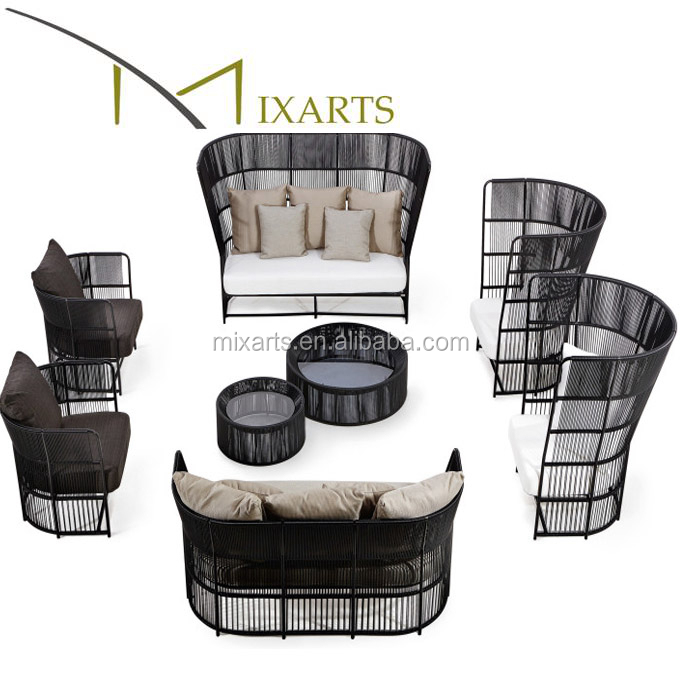 Mixarts patio leisure ways aluminum outdoor furniture sofa set
