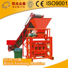 SUNITE Block Forming Machine/wood shaving block making machine/hydraulic cement block making machine