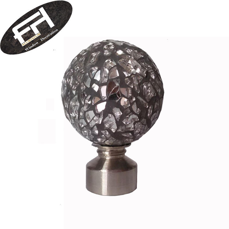 Splintered Glass Curtain Finials View Glass Curtain Rod Finials Fh Product Details From