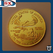 High quality replica American eagle tungsten gold Coin.999 100 mills fine gold clad bar made in China