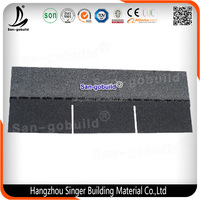Chinese New Design Flexible Roofing Material/ 3 Tab Fiberglass Asphalt Roofing Shingles