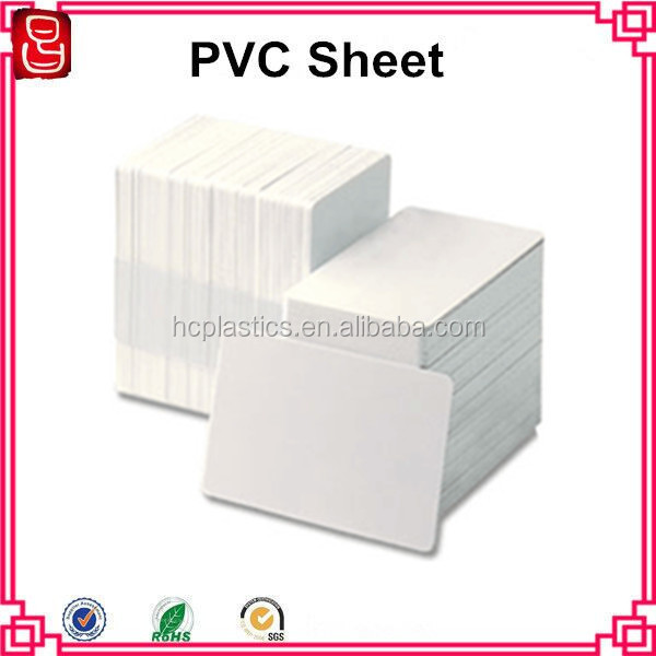 A4 size laminating material PVC id cards plastic sheet for card