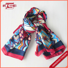 Printing Coloful Lady's Square Scarf Wholesale Scarves