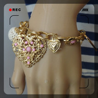 alloy fashion design gold bracelet crystal bracelet