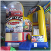 5 in 1 combo style inflatable bouncy castle/inflatable bouncer/Cars inflatable combo jumping castle
