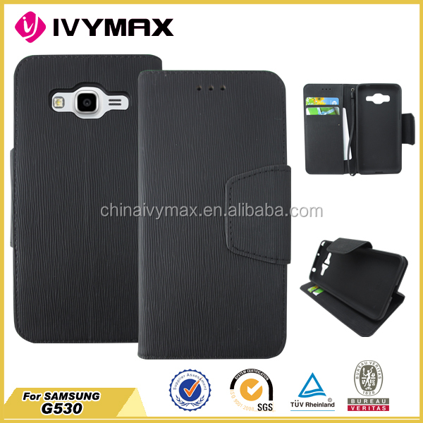 Factory price pu leather case slim flip cover for samsung G530 case