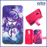Double Side Painting Bling Leather Case For LG G3 Stylus