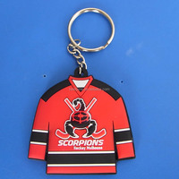 3d rubber pvc keychain, customized scorpions hockey mulhouse keyrings, promotional key chin rings