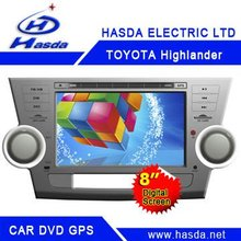 Toyota hilghlander car dvd players gps ,Bluetooth ,ipod,usb support
