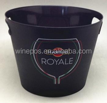 Plastic bucket, Martini, ice bucket, PS bucket