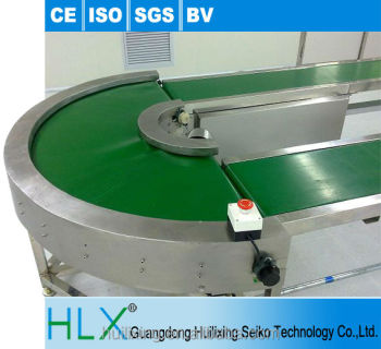 180 Degree Curve Turning Belt Switching Conveyor System