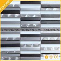 Wholesale Beautiful Style new glass and metal mosaic for wall tile