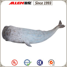 20 cm resin sperm whale wall hanging sculpture