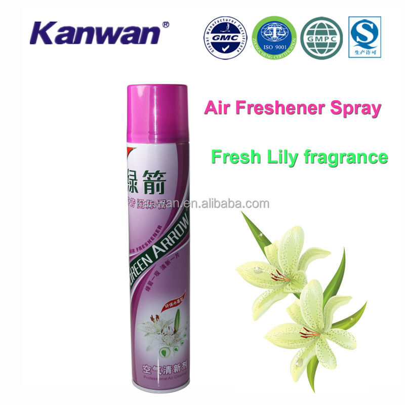 Lily fragrance hotel liquid air freshener spray
