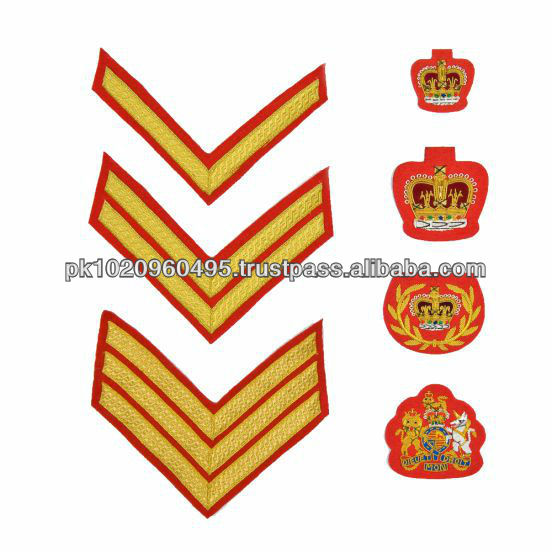 No. 1 Dress Embroidered Badges | Chevron and Crowns | Uniform Accoutrements