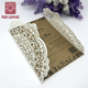 Romantic wedding puberty ceremony laser cut invitation card