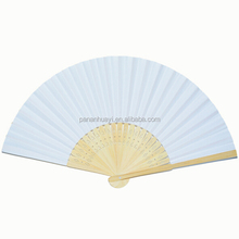 Customise spanish print folding wood hand fan for advertisement