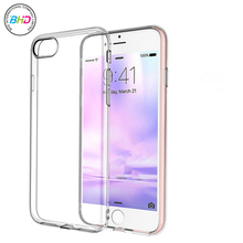 Hot New Product For iPhone 7 Case, Ultra Thin Clear Crystal Transparent TPU Case Cover For iPhone