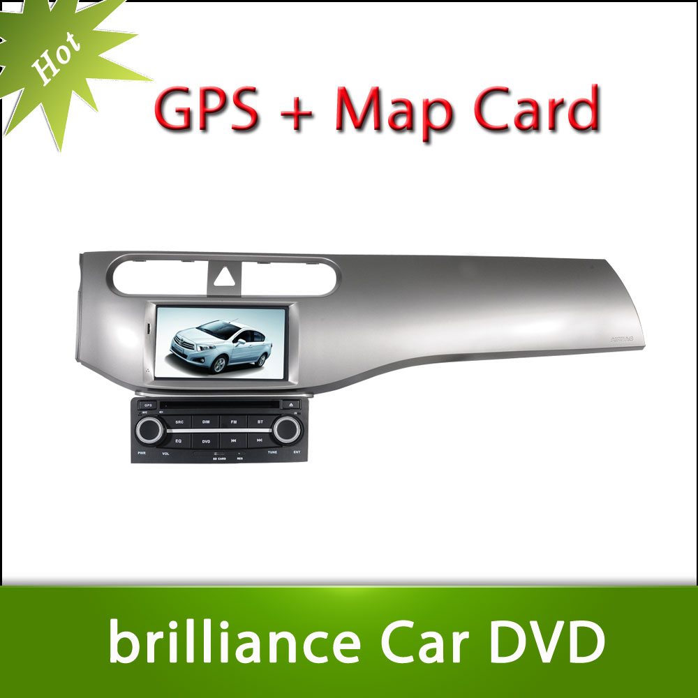 Hot 7inch BRILLIANCE H230 Car DVD GPS Player Car Stereo Navigation Radio Audio Bluetooth A2DP Steering Wheel Control