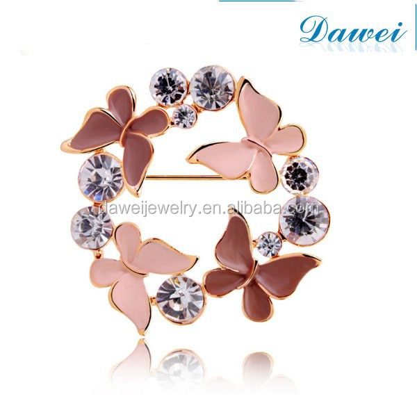 grace romance butterfly rhinestone brooch for party