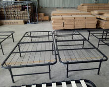 High Quality Platform Metal Bed Frame with bracket for size twin full queen king cal king