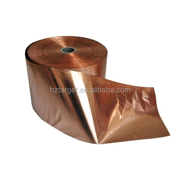 High Purity C11000 T2 Electrolytic Thin Copper Foil Strip Tape Copper Manufacturer