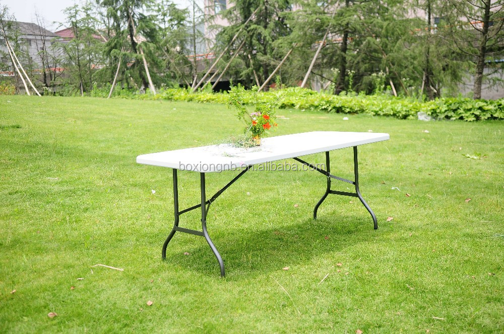 6ft plastic folding table, rectangle table, portable table