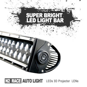 N2 50'' waterproof SUV ATV auto Led Lighting 13.5 Inch Curve 72w Offroad Led Light Bar