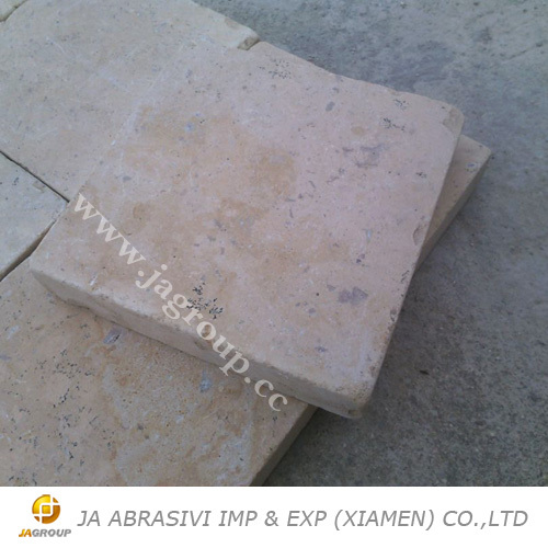 Beige stone travertine tumbled pavers JAG stone