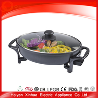 Professional company non-stick design round electric fry pan as seen on tv