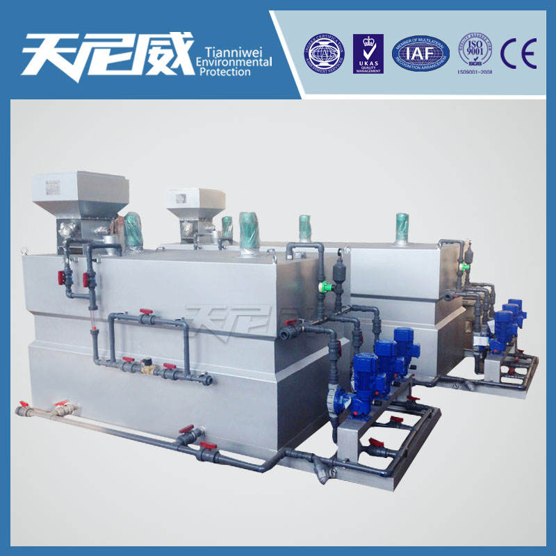PAM powder dosing machine for primary settling sludge